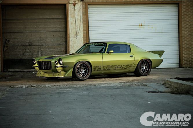 GREEN WITH ENVY '73 CHEVY CAMARO - HEIDTS