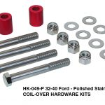 Hardware Kit, Coil-Over - 32-40 Ford, Polished Stainless (HK-049-P)