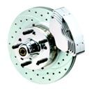 11″ Pol. Aluminum Hubs -Smooth Rotors   (NO CALIPERS)                                                                    (BS-020-K)